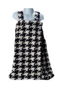 Scene Weaver Delight 50cm by 130cm Junior Coral Fleece Bath Wrap, Black/White, Houndstooth Pattern