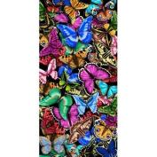 KAUFMAN - Beautiful Butterflies Beach, Bath, Pool, Sauna Towel, 100% Cotton, Blanket, Sheet, 80cm x 150cm
