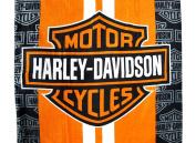 Harley-Davidson Racing Stripes Beach Towel 80cm . X 150cm .