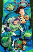 """Officially Licenced Disney/Pixar Toy Story Beach Towel - Woody, Buzz Lightyear, Slinky Dog, Aliens """"Toy Story Mania"""" - 80cm x 140cm"""