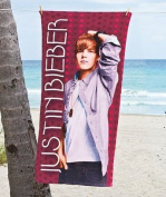 Justin Bieber Beach Towel 80cm x 150cm - Red Stage Lights