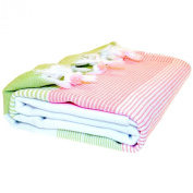 Hammam Towel - Striped, Natural White, Lime & Soft Orange, Best Quality Soft Pestemal or Fouta Towel