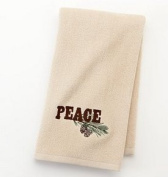 "2pc ""Peace"" pinecone hand towel set"