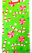 Jo-ann's Holiday Candy Cane Kitchen Towel,100% Cotton Velour,red/green