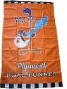 NEOPlex 0.9m x 1.5m Plymouth Road Runner Vertical Flag