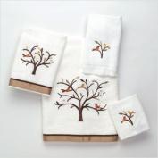 Avanti Linens Friendly Gathering Wash Cloth, 30cm by 30cm , White