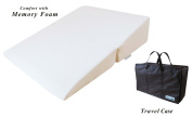 InteVision Folding Wedge Bed Pillow (80cm x 60cm x 18cm ) with High Quality, Removable Cover and a Carrying Case