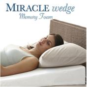 Memory Foam Wedge Pillow for Acid Reflux. Visco Wedge Pillow for GERD, Sleep Apnea, Snoring. 60cm L, 60cm W, 19cm H