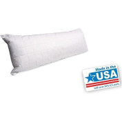 Mainstays Quilted Body Pillow, White, 50cm x 140cm