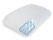 SensorPEDIC Classic Comfort Memory Foam Bed Pillow with Ventilated iCOOL Technology Standard, White