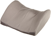 Memory Foam Trisectional Lumbar Cushion with Polycotton Zippered Cover & Strap - L 38cm x H .130cm x W 33cm