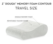 Z® by Malouf TRAVEL SIZE Memory Foam Moulded Contour Neck Pillow - Luxurious Washable Cover