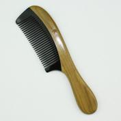 Black Buffalo Horn Comb with Sandalwood Handle