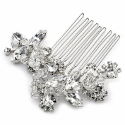 USABride Vibrant Crystal Hair Comb, Bridal Hair Accessory 2222