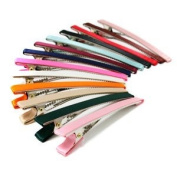 12pk of 80mm Alligator Clips Satin Covered