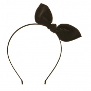 Black Rabbit Ear Bow Headband.