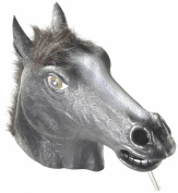 Black Horse Mask : Deluxe Latex Animal Mask