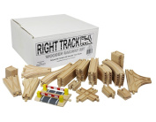 Wooden Train Track Deluxe Set