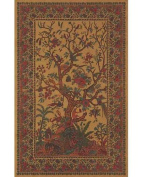Brown Tree of Life Indian Bedspread, Queen Size