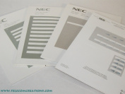 NEC DESI Laser Labels for the DTR-8 or DTH-8 Non Display Phones (Stock# 780414) Silver / 25 Sheets
