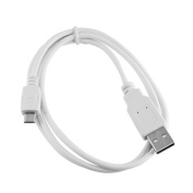 White 1.8m USB to Micro-USB Cable for Amazon Kindle Fire, HD, HDX, HDX 23cm