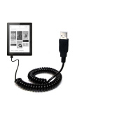Kobo Aura / Aura HD compatible Unique Gomadic Coiled USB Charge and Data Sync cable - Charging and HotSync functions with one cable. Built with TipExchange