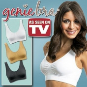 Genie Bra 7.6cm Set (One Nude One Black One White) *As Seen on Tv - Small