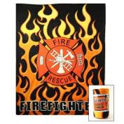 Fire fighter Fire Rescue Fleece Blanket