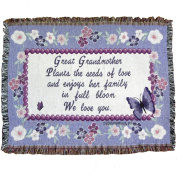 Great Grandmother Throw Blanket - Gift for Great Grandma