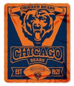 Chicago Bears 50x60 Marque Design Fleece Blanket