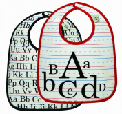 Sugarbooger Mini Bib Gift Set, Vintage Alphabet, 2 Count