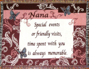 Nana Cotton Sofa Throw Blanket - Gift for Grandmothers - Made in USA