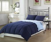 Chezmoi Collection 3-Piece Super Soft Goose Down Alternative Reversible Comforter Set