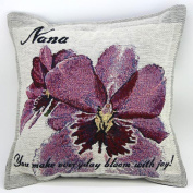 Orchid Nana Pillow - Gift for Grandmother - Made in USA Grandma Gift