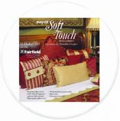 Fairfield Poly-Fil Soft Touch Pillow, 36cm Round, White, 1 Pillow