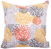 Majestic Home Goods Blooms Pillow, Large, Citrus