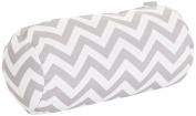 Majestic Home Goods Chevron Round Bolster, Grey