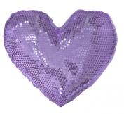Teen Vogue Heart Shaped Sequin Dec Pillow