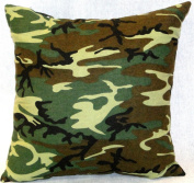 Green Camouflage, NuAngel Decorative Throw Pillow, Square - Made in USA