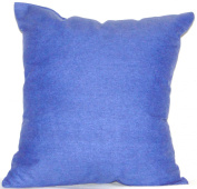Royal Blue 17 x 17 100% Cotton Shell - NuAngel Decorative Throw Pillow -Made In U.S.A.