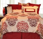 Pointehaven Printed 300 TC 3-Piece 100-Percent Combed Cotton Duvet Set, Cherry Blossom