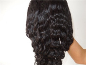 Full Lace Wigs Beauty Brazilian Hair 100% Remy Human Hair Wig Body Wave #1B