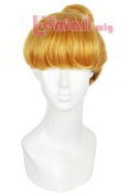 45cm Short Golden Anime Girl Hair Cartoon Cosplay Wig ZY95