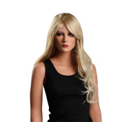 Troadzwig Blonde Big wave Long Big Curly Hair Natural Fluffy Middle Part Wigs for Women Kanekalon Fibre Synthetic