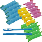 Pay4save18pcs Hair Rollers Snail Rolls Styling Curler Tools, Easy At Home DIY Natural Way