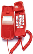 Trimline Phone - Crimson Red - Durable Retro Novelty Telephone - An Improved Version of the Princess Phones in 1965 - Replica Retro Styling - 30 Day. 3 Year Warranty - Desk or Wall Mountable - Unique Landline Corded Telephone for ..