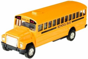 Toysmith Pull-Back School Bus, 13cm , Bright Yellow