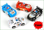 Pull Back Police Cars - 12 Pc