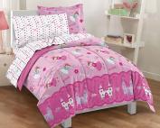Magical Princess Ultra Soft Microfiber Twin Comforter Bedding Set, Pink Multi
