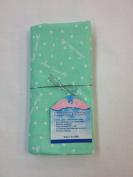 "NuAngel 100% Cotton Flannel Receiving Blanket, Mint Green ""Jesus Loves Me"" MADE IN USA"
